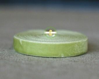Lime Velevet Ribbon