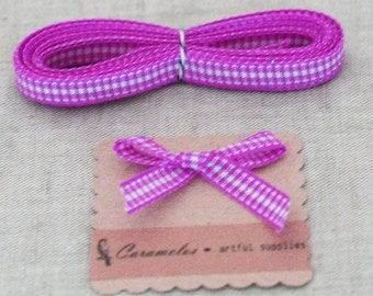 Deep Discount Clearance! Rasberry Gingham Check ribbon 25 yard roll