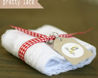 3 yards of Wide White Lace Trim/Ribbon
