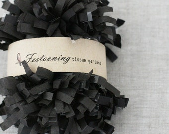 4 Yds of Black Tissue Garland