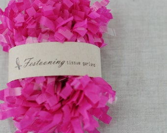 4 Yds of Fuchsia Tissue Garland