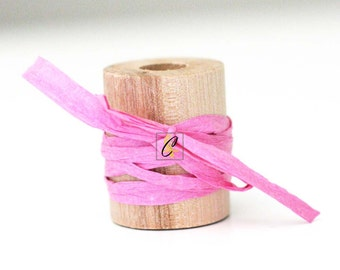 Wholesale 100 yards of Bubble Gum Pink paper raffia ribbon/twine