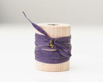 Wholesale 100 yards of Plum paper raffia ribbon/twine