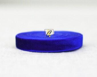 Royal Blue Velvet Ribbon