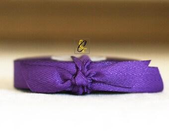Clearance!  25 yards of Grape Herringbone ribbon