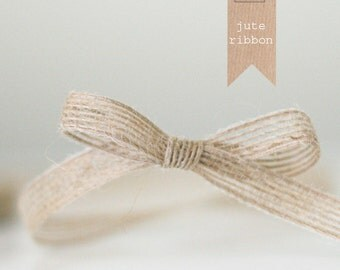 4 yards of Natural Jute Ribbon 3/8""