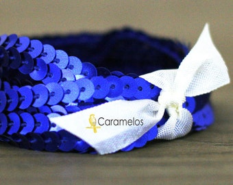 Deep Discount Clearance! 50 yard roll of Royal Blue Sequin Trim