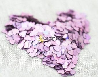Pink/Lavender heart confetti  .5 oz
