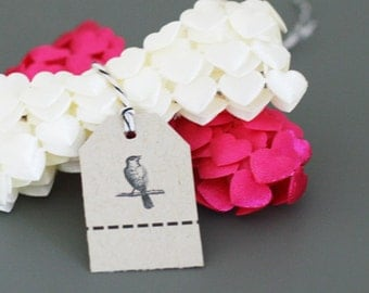 """Puffy 3/8"""" Heart Trim 2 yards 4 colors available"""