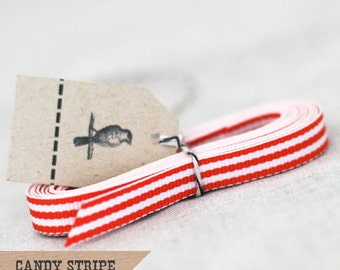 Orange Candy Stripe Ribbon 4 yards