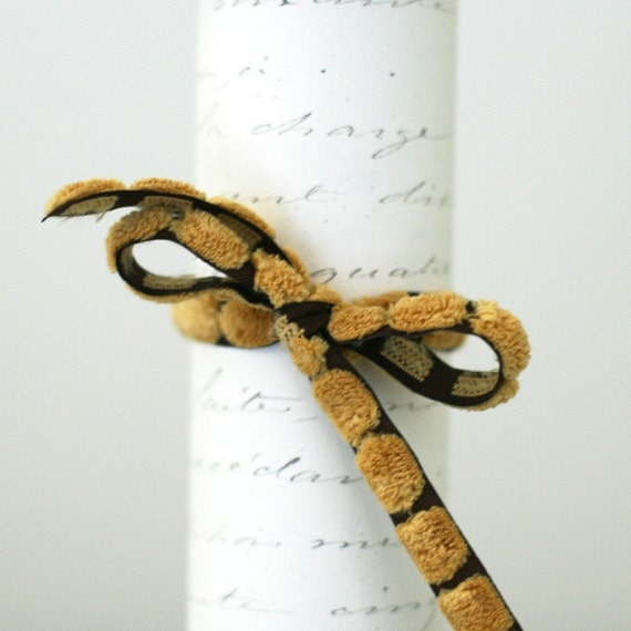 Clearance!  Butterscotch bump chenille ribbon