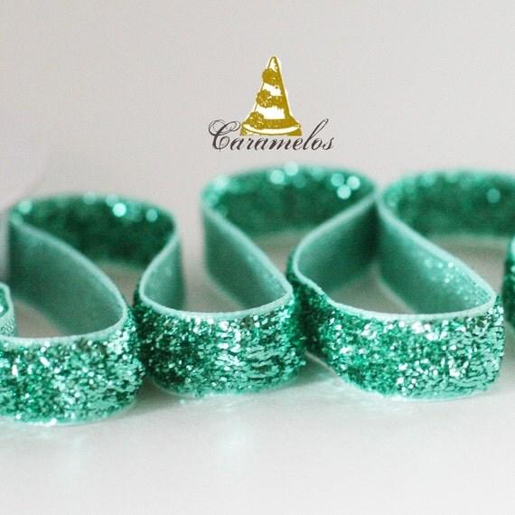 Aqua Glitter Ribbon