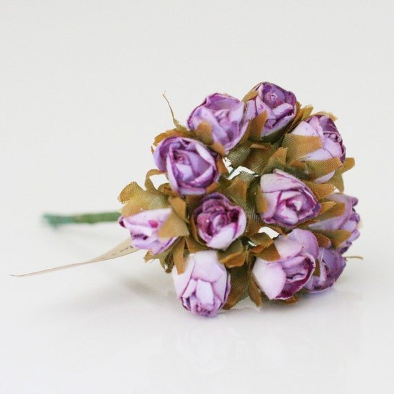 24 Grape Millinery paper flowers