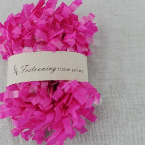 4 Yds of Fuchsia Tissue Garland