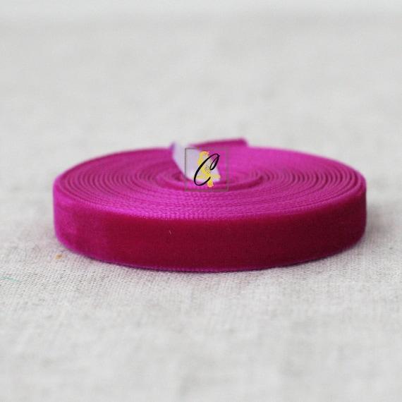 Fuchsia Velvet Ribbon
