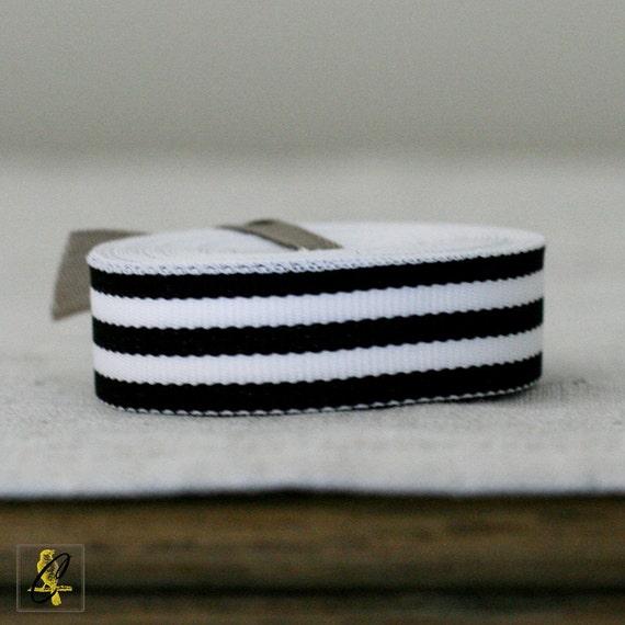 "5/8"" Black Candy Stripe Ribbon 4 yards"