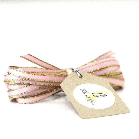 Pink Sparkle Satin Twine Ribbon 5 yards