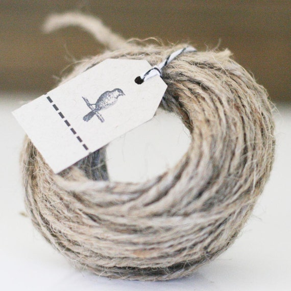 15 yds of Natural Rustic Jute Twine 20lb 2 ply