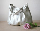 Baby Ruche Bag in PEARL Leather w Adjustable Strap