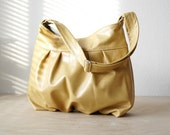 Baby Ruche Bag in Mustard Yellow Leather - SALE - LAST ONE - Ready to Ship