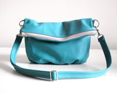 Foldover Clutch in Blue Turquoise - SALE - LAST ONE - Ready to Ship