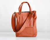 Packet in Burnt Orange Canvas - Made to Order
