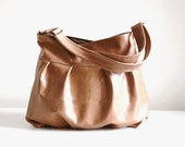 Baby Ruche Bag in Caramel Tan Leather - Made to Order