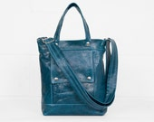 Packet in Dark Teal Leather - Ready to Ship