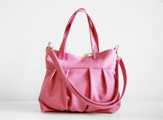 Mini Ruche Bag in Bubblegum Pink - SALE - LAST ONE - Ready to Ship