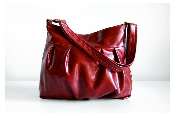Baby Ruche Bag in Ruby Wine Leather - Ready to Ship