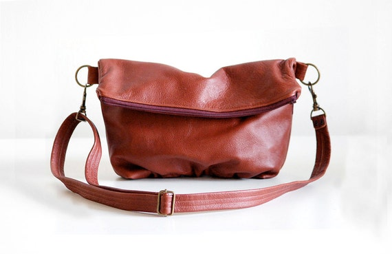 Foldover Clutch in Brick Red - LAST ONE - Ready to Ship