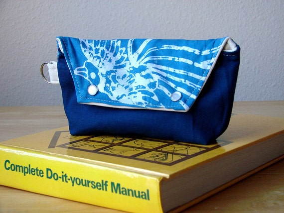 Hip Pocket in Blue Swallows - SALE - Ready to Ship