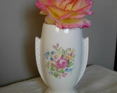 Glazed Ceramic Art Deco Shabby Chic Style Vase
