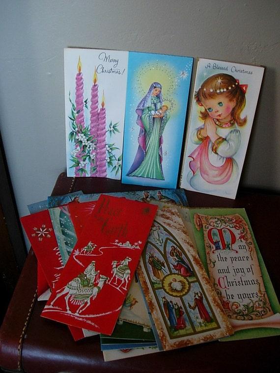 21 Tall Deluxe Religious Christmas Cards