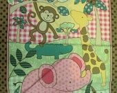 Jungle animal fabric panel