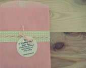 30 Flat, Pink Glassine-Lined Paper Bags Reserved for kitschlove