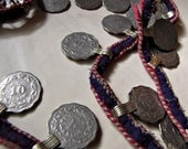 length of tribal coin and rope trim for bellydancing or mixed media projects