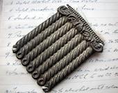 vintage large rope design stamping from masonic regalia