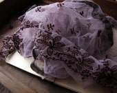 length of vintage hand dyed lace - purple wine