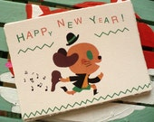 Set of 10 Happy new year cards.