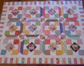 "Lap/Baby Quilt in Thirties Fabrics - 52"" x 66"""