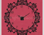Victorian Clockette - Real Clock Wall Decal