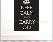 Keep Calm and Carry On (REGULAR) - Text Wall Decal