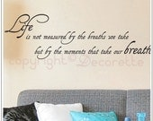 Life's Moments - Text Wall Decal Sticker
