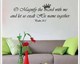Magnify The Lord Psalm 34-3 - Word Wall Decal