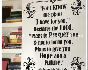 Jeremiah Scripture - Bible Verse Text Wall Word Decals