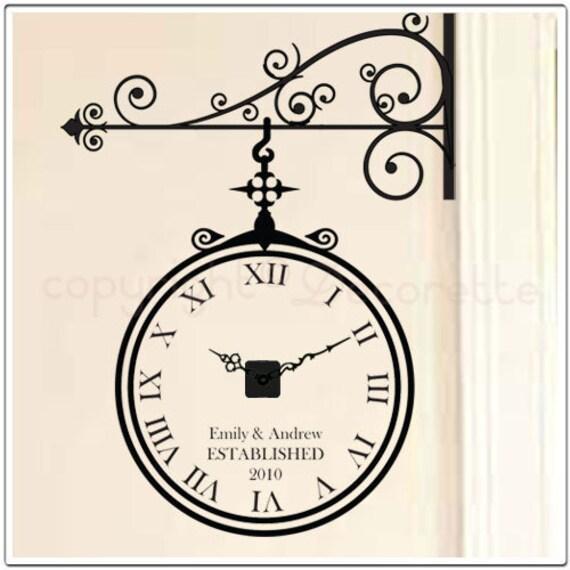 Ornamental Clockette - Real Clock Wall Decal