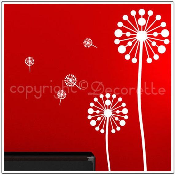 Classic Dandy - Dandelion Flower Wall Decals