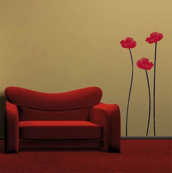 Poppy Flowers - Wall Decal