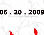 Save The Date Save The Earth by sending this electronically Two Red Birds